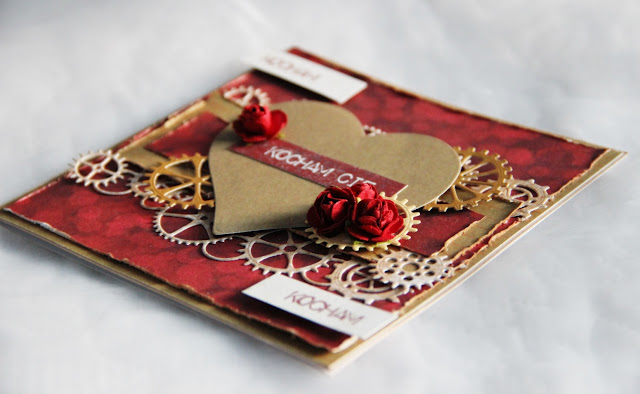 Valentynki, kartka na walentynki, kartka z sercem, kartka dla mężczyzny
