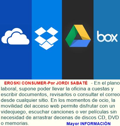 Escoger un servicio para guardar nuestros archivos en la nube