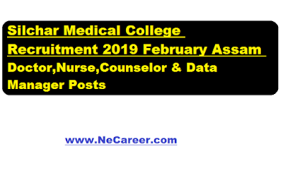 Silchar Medical College Recruitment 2019 February - Jobs in Assam