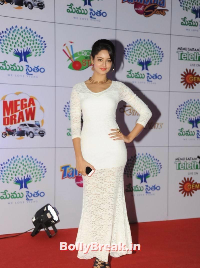 Shanvi Unseen Stills, Actress Shanvi Hot Sexy Pics in White Dress