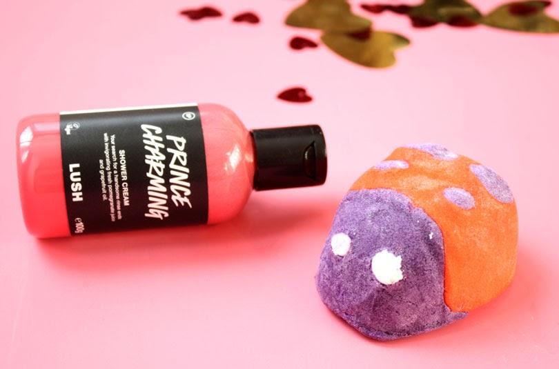 lush valentines day haul ladybird bubble bar prince charming shower cream