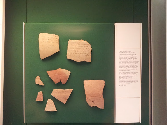 The Lachish Letters or Lachish Ostraca. In 1935_ a collection of letters written on pottery was unearthed in the biblical city of Lachish _fig. 19_. These letters confirm events that occurred during King Zedekiah_s reign. The letters also mention the names of biblical figures_ possibly even the prophet Jeremiah. Read more_ http___www.realdiscoveries.org_modules_articles_item.php_itemid_213_keywords_Lachish_Letters_ixzz4xT65EiTh by http___www.truthnet.org. Full article here.