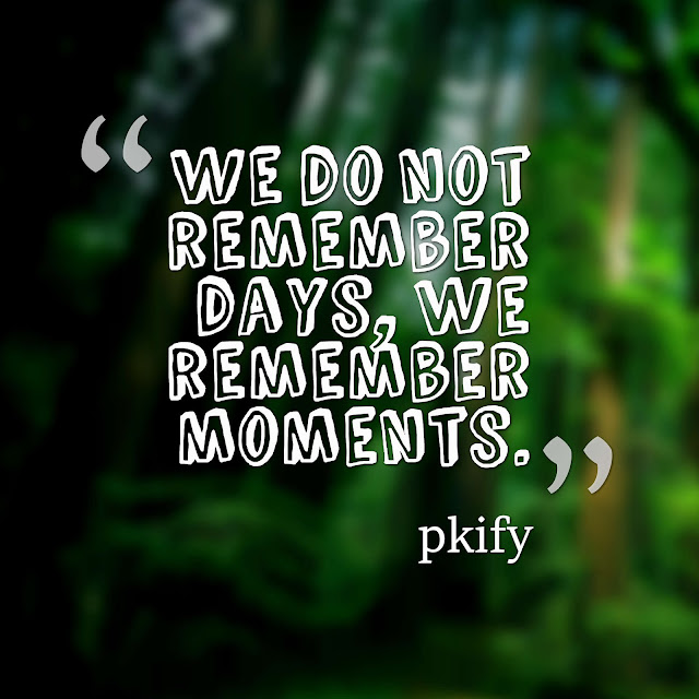 We Do Not Remember Days, We Remember Moments Life Quotes