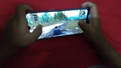 Game Space pada layar smartphone Oppo F9. (dok.windhu)