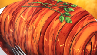 Food Wars Bacon Wrapped Potato Recipe