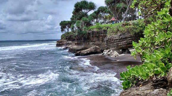 Pantai Batu Hiu Pangandaran Tanah Lotnya Jawa Barat