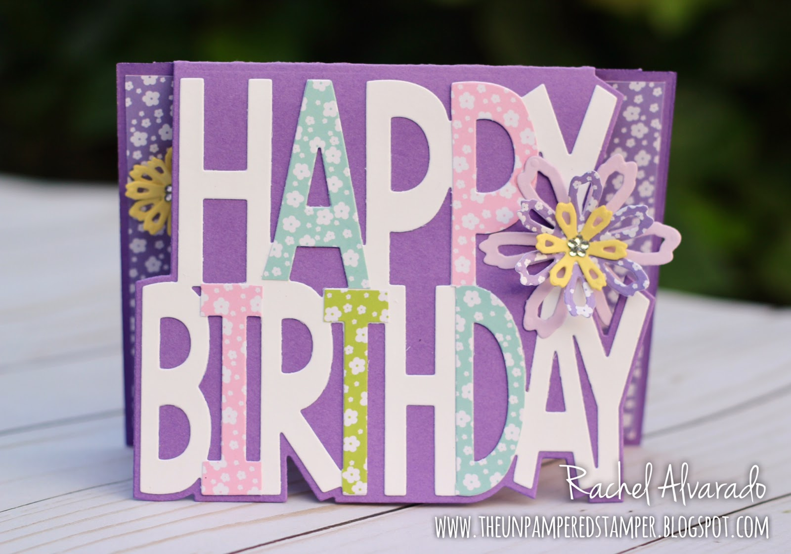 I Also Added A Few Shabby Chic Flowers On This Birthday Card The Patterned Paper Came From Sunshine Collection