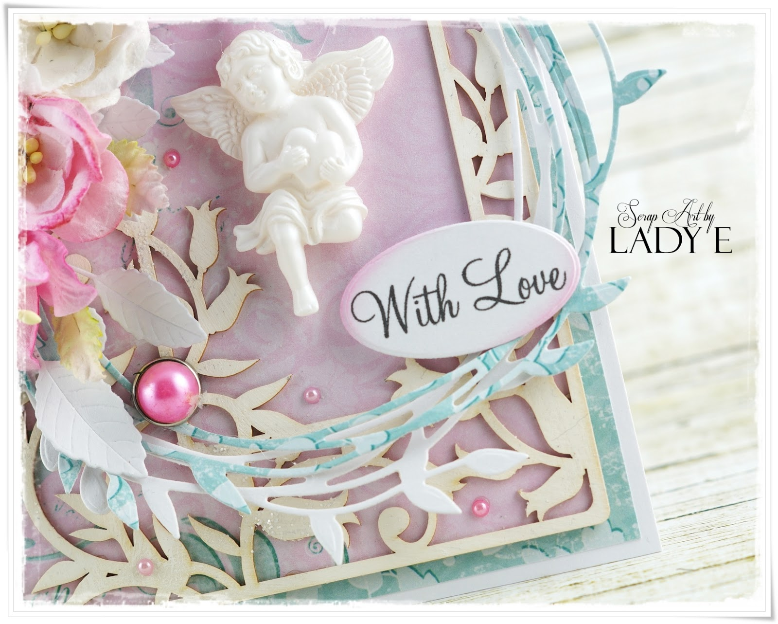 Wild Orchid Crafts: Shabby Chic Card with Angel
