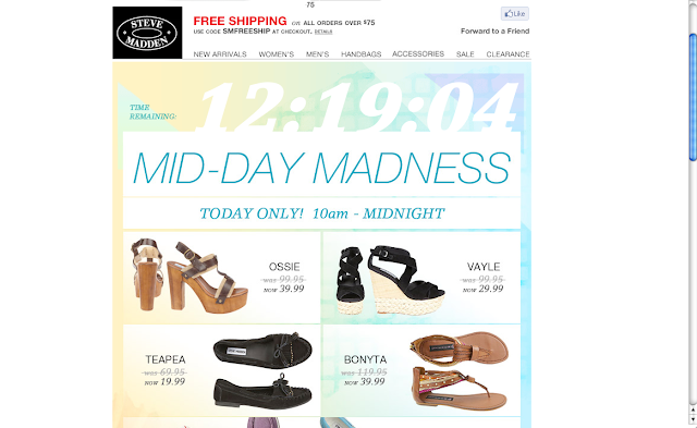 Discount on Steve Madden Shoes