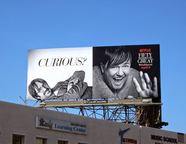 Fifty Shades of Great Derek Special parody billboard