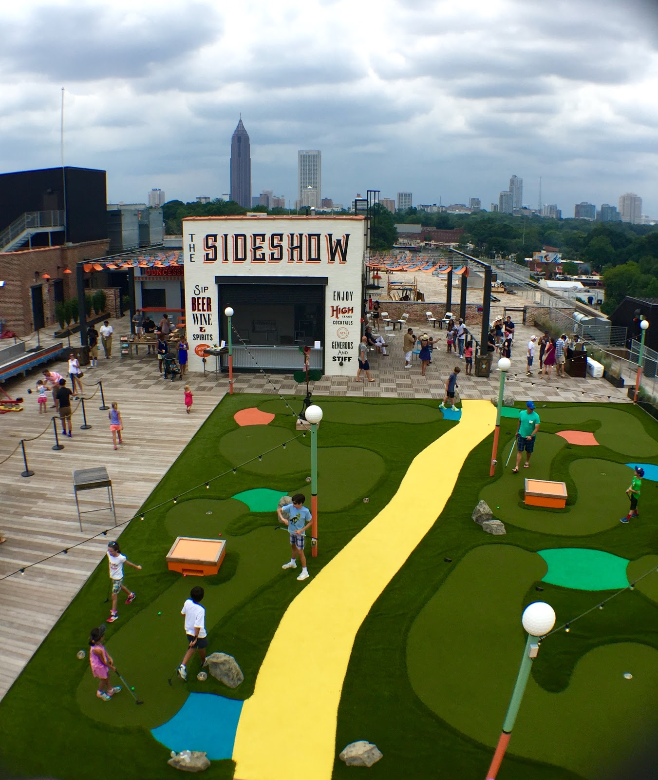 Skyline Park Opening at Ponce City Market | Collegiate Eats on baseball golf, hockey golf, plinko golf,