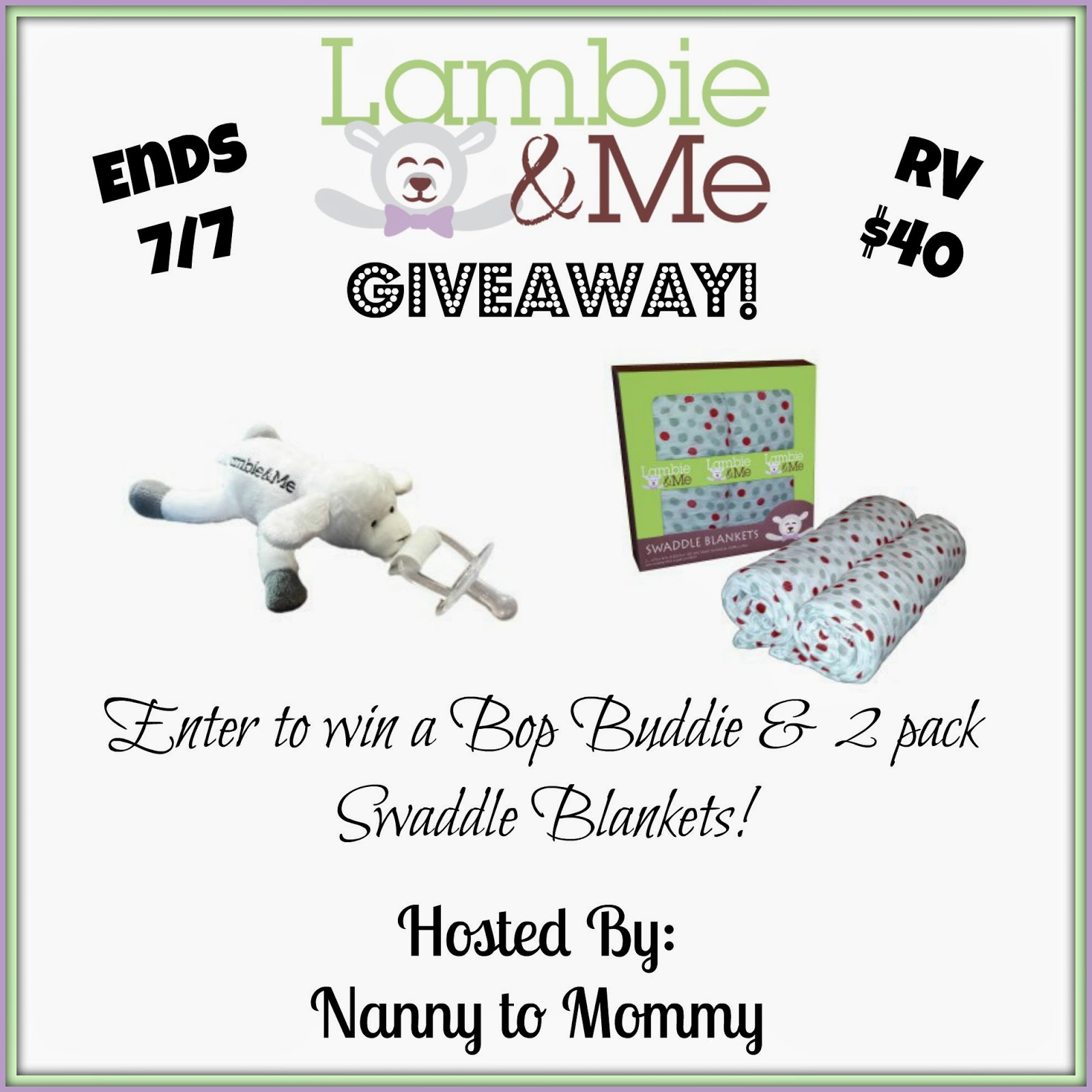 Enter to #win a Lambie & Me Prize Pack during the #ThirdTimesACharm #Giveaway Hop! RV $40 Ends 7/7