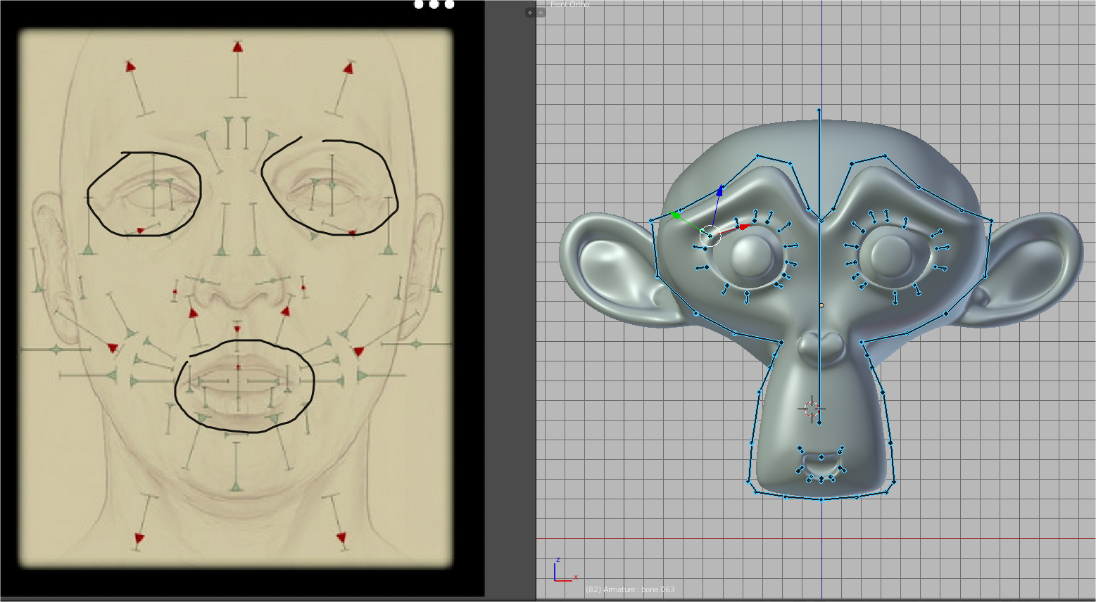 Blender Facial Rigging 82