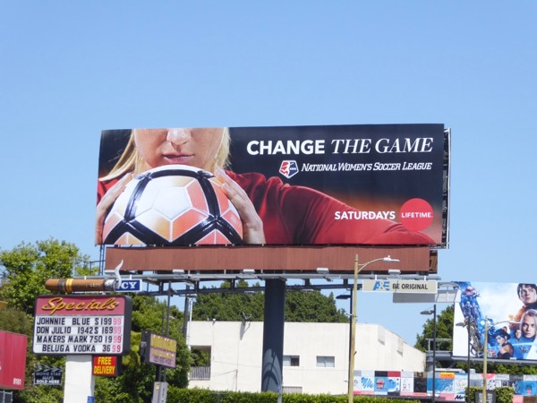 National womens soccer league Lifetime billboard