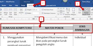 Cara Menampilkan Header Tabel pada Halaman Berikutnya di Microsoft Word