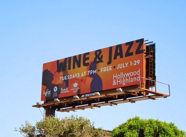 Wine Jazz Hollywood Highland billboard