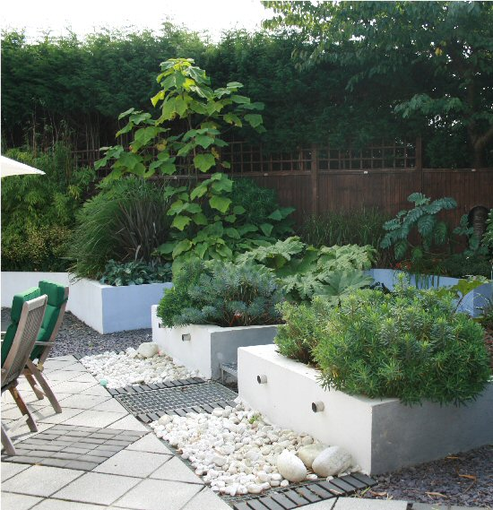 A life designing contemporary garden design for Contemporary gardens