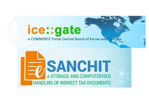 E Sanchit ICEGATE and CUSTOMS procedure