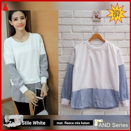 AND394 Sweater Wanita Zarra Stile Putih BMGShop