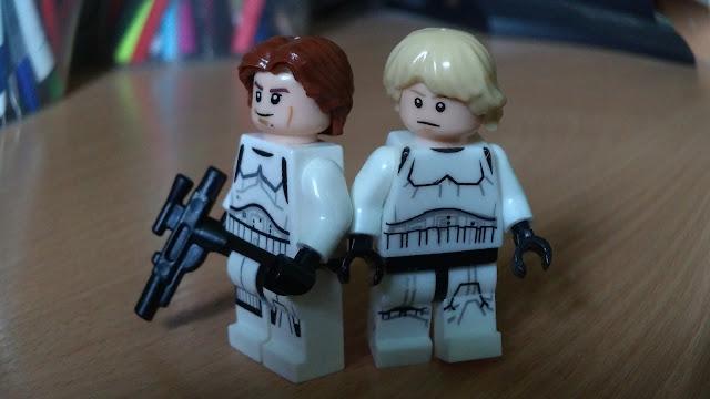 Люк Скайуокер и Хан Соло фигурки лего купить по отдельности