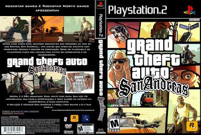 Jogo GTA San Andreas PS2 DVD Capa