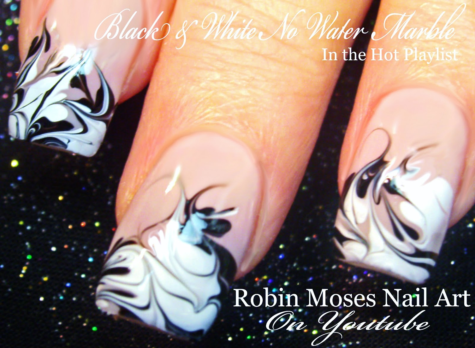 Black And White No Water Marble
