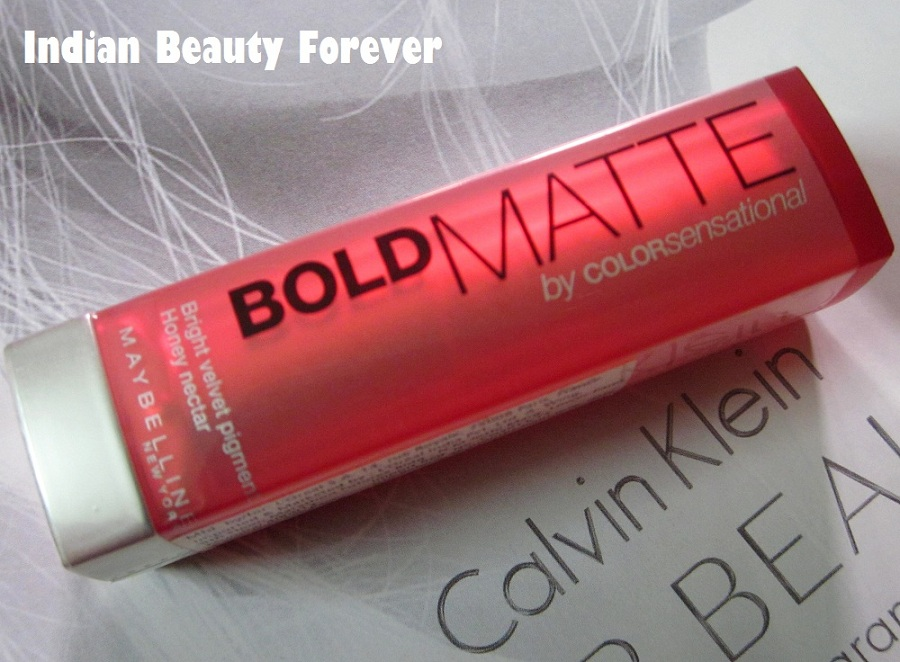 Maybelline colorsensational Bold matte Lipstick Mat 5 review Swatches