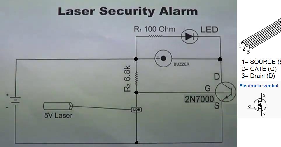 Figure 1 Simple Circuit Diagram Home Security Alarm System Using Ldr