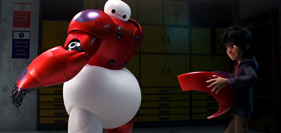 Hiro şi Baymax în Big Hero 6