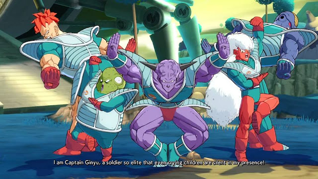 Dragon Ball FighterZ Captain Ginyu Force victory win pose five members