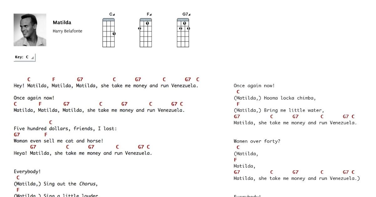 Matilda Harry Belafonte 3 Chords