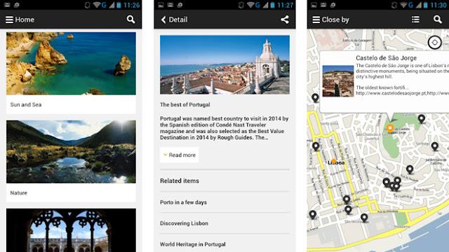 Visit a city; aplikacja; app; travel app