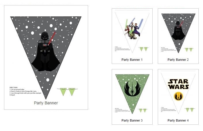 picture about Printable Banners known as Star Wars No cost Printable Banners. - Oh My Fiesta! for Geeks