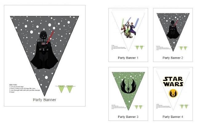 Banderines de Star Wars para Imprimir Gratis.