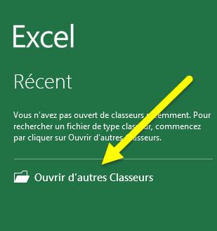 Ouvrir Classeur Excel 2013