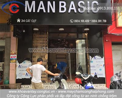 Cung cấp và lắp đặt hệ thống cổng từ an ninh tại shop thời trang MANBASIC - Cát Cụt - Hải Phòng.