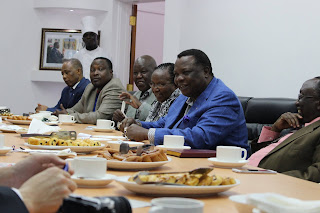 Atwoli in meeting with Trade unionists at the COTU headquarters. PHOTO | BANA