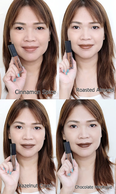 a photo of Sleek Makeup Matte Me Browns Review in Cinnamon Spice, Roasted Almond, Hazelnut Crush and Chocolate Meringue by Nikki Tiu www.askmewhats.com