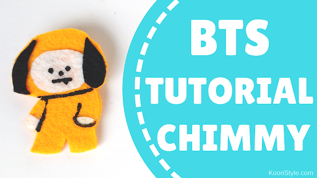 Koori Style, KooriStyle, BTS, BT21, Jimin, Park Jimin, Chimmy, Pin, Brooch, Broche, Felt, DIY, Tutorial, Make, Easy, Cute, Kpop, Facil, Fieltro, Plantilla, Printable