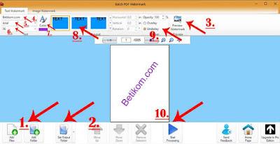 Preview membuat watermark stempel teks dan gambar di pdf