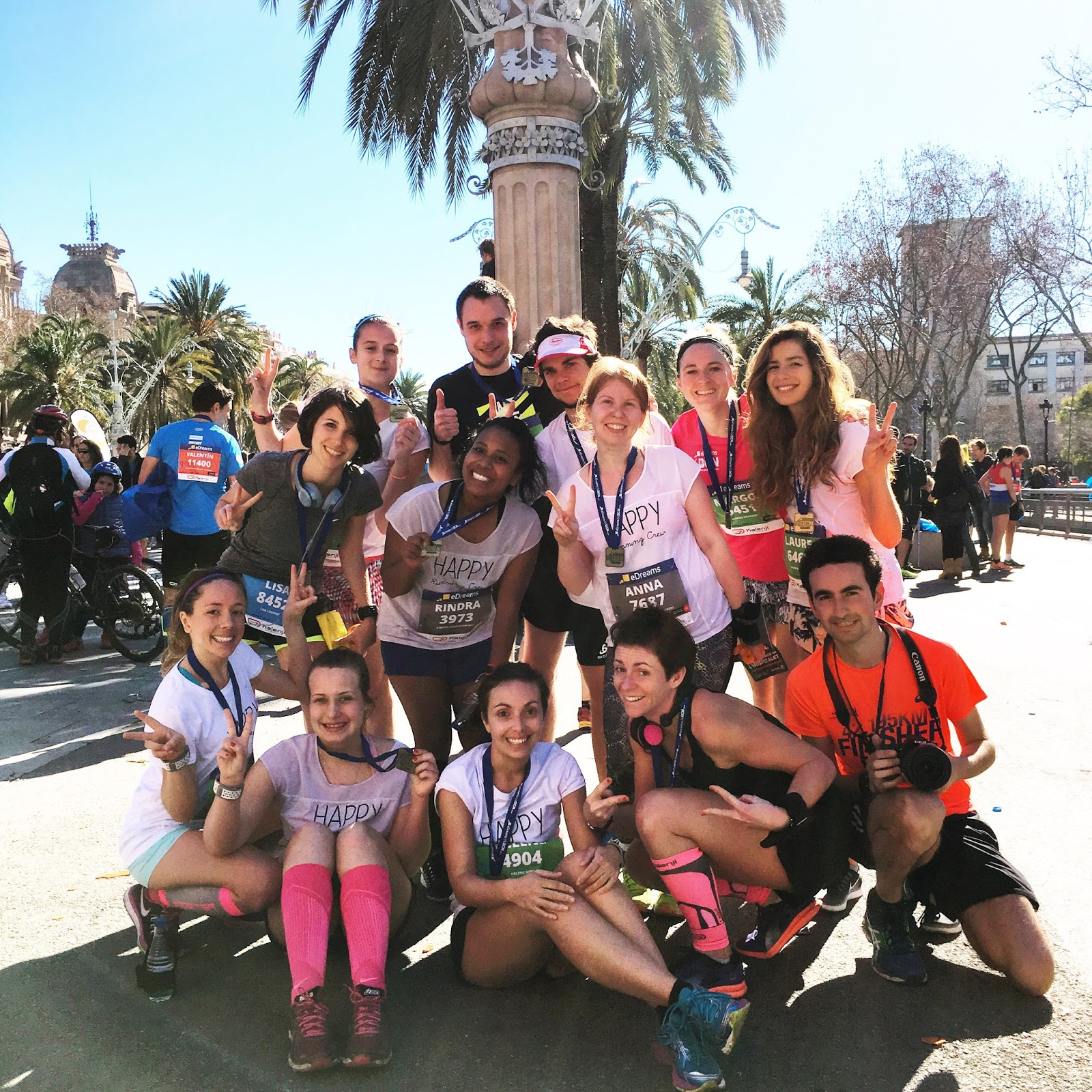compte rendu semi marathon Barcelone