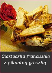 Ciasteczka francuskie z pikantną gruszką