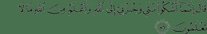 Surat Yusuf Ayat 86