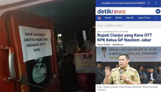 Bupatinya Kena Operasi Tangkap Tangan KPK, Angkot di Cianjur Gratis Seharian