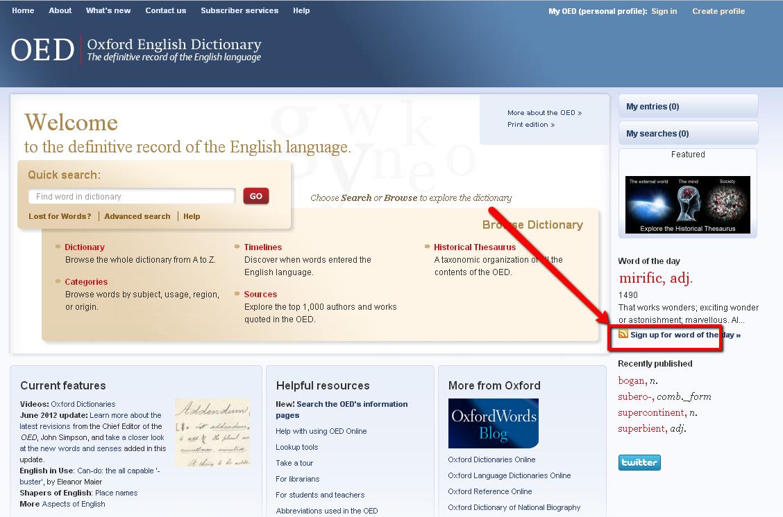 Delgado Community College Libraries Blog: Oxford English Dictionary