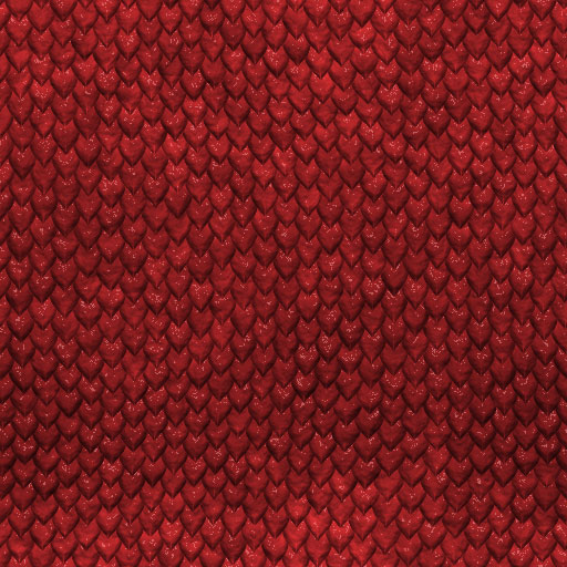 Dragon Red seamless tiling pattern
