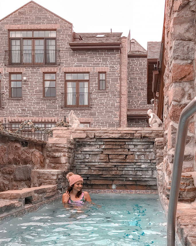 A Review of Ste. Anne's Spa - Fieldstone Grotto, Cold Plunge Pool, Lap Pool, Tile and Stone Hot Tub