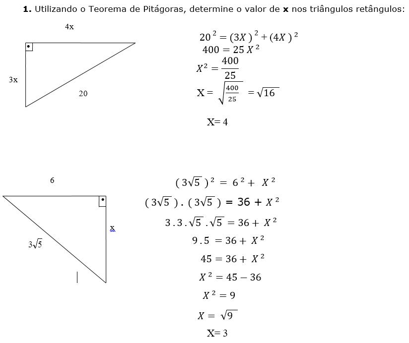 Educação Matemática: TEOREMA DE PITÁGORAS - VÍDEO AULA COM EXERCÍCIOS  RESOLVIDOS