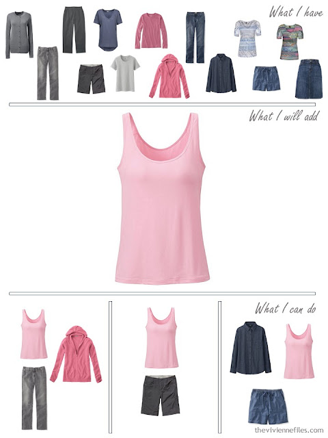 how to add a pink tank top to your wardrobe