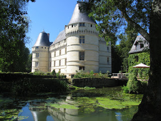 Chateau de l'Islette in the Loire Valley reflecting on the river